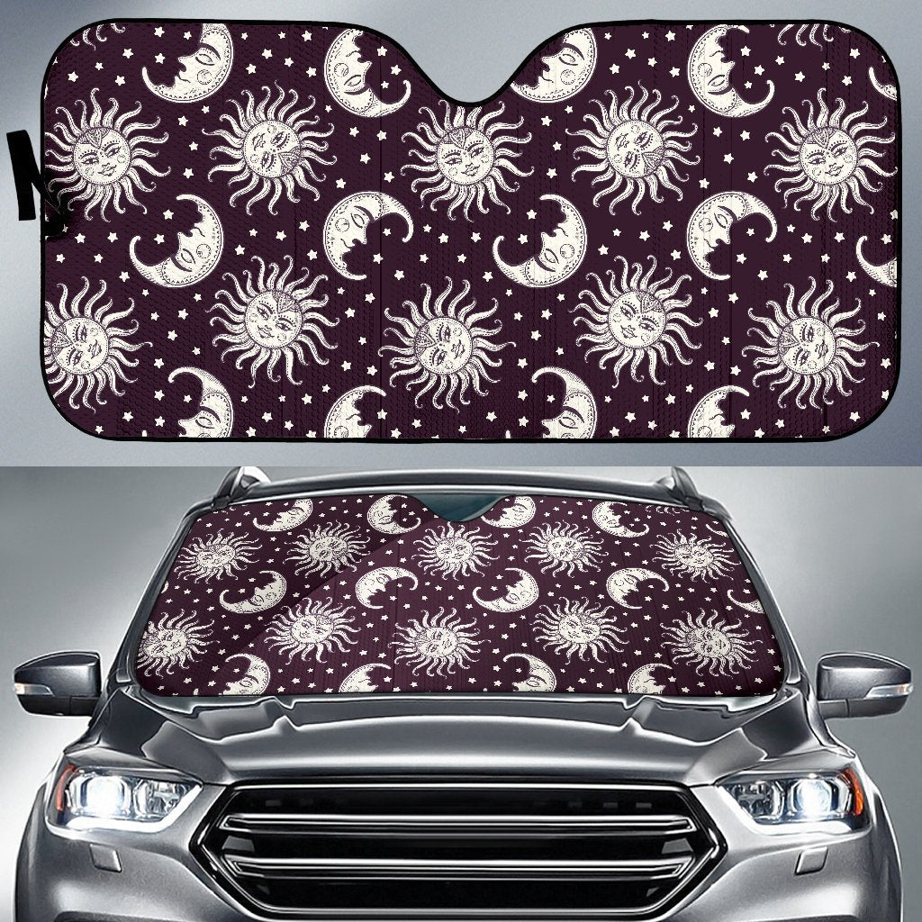 Sun Moon Face Car Sun Shade-JorJune