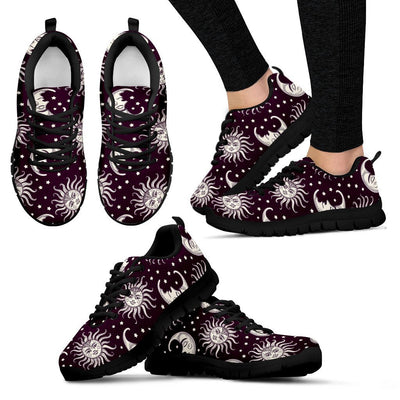 Sun Moon Face Women Sneakers