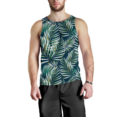 Sun Spot Tropical Palm Leaves hower Curtain Men Tank Top