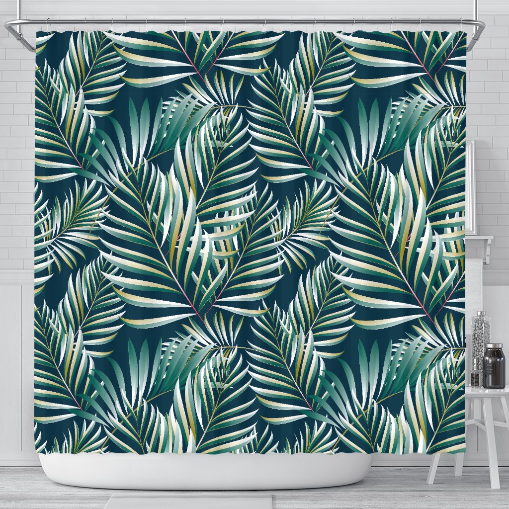 Sun Spot Tropical Palm Leaves Hower Curtain Shower Curtain