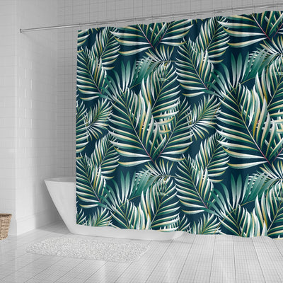 Sun Spot Tropical Palm Leaves Shower Curtain