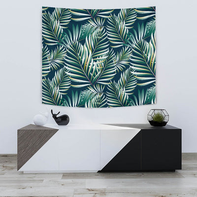 Sun Spot Tropical Palm Leaves Wall Tapestry