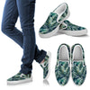 Sun Spot Tropical Palm Leaves Women Canvas Slip On Shoes