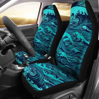 Surf Blue wave Universal Fit Car Seat Covers