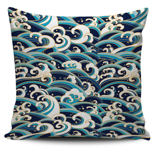 Surf Wave Pattern Cushion Pillow Cover