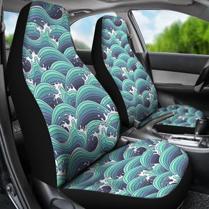 Surf wave Pattern Universal Fit Car Seat Covers