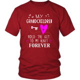 T-Shirt grandchildren hold the key to my heart GD1001