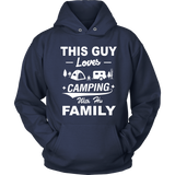 T-shirt hoodie love camping with his family CAMP1007D3