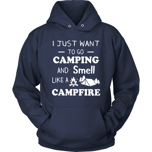 T-Shirts camping and smell like a campfire hoodies sweatshirts Vnecks long sleeves CAMP1040