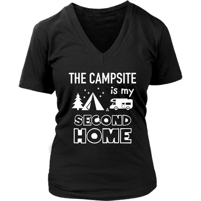 T-Shirts campsite is my second home camping hoodies sweatshirts Vnecks long sleeves CAMP1039