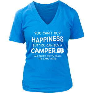 T-Shirts happiness can buy a camper camping hoodies sweatshirts Vnecks long sleeves CAMP1008