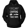 T-shirts hoodie i just want to go camping hoodies sweatshirts Vnecks long sleeves CAMP1010