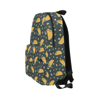 Taco Pattern Print Design TC02 Unisex Nylon Backpacks-JorJune