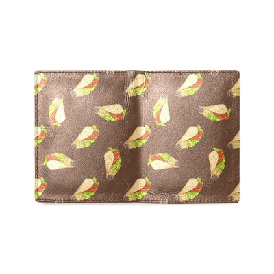 Taco Pattern Print Design TC08 Men's Leather Wallet-JorJune