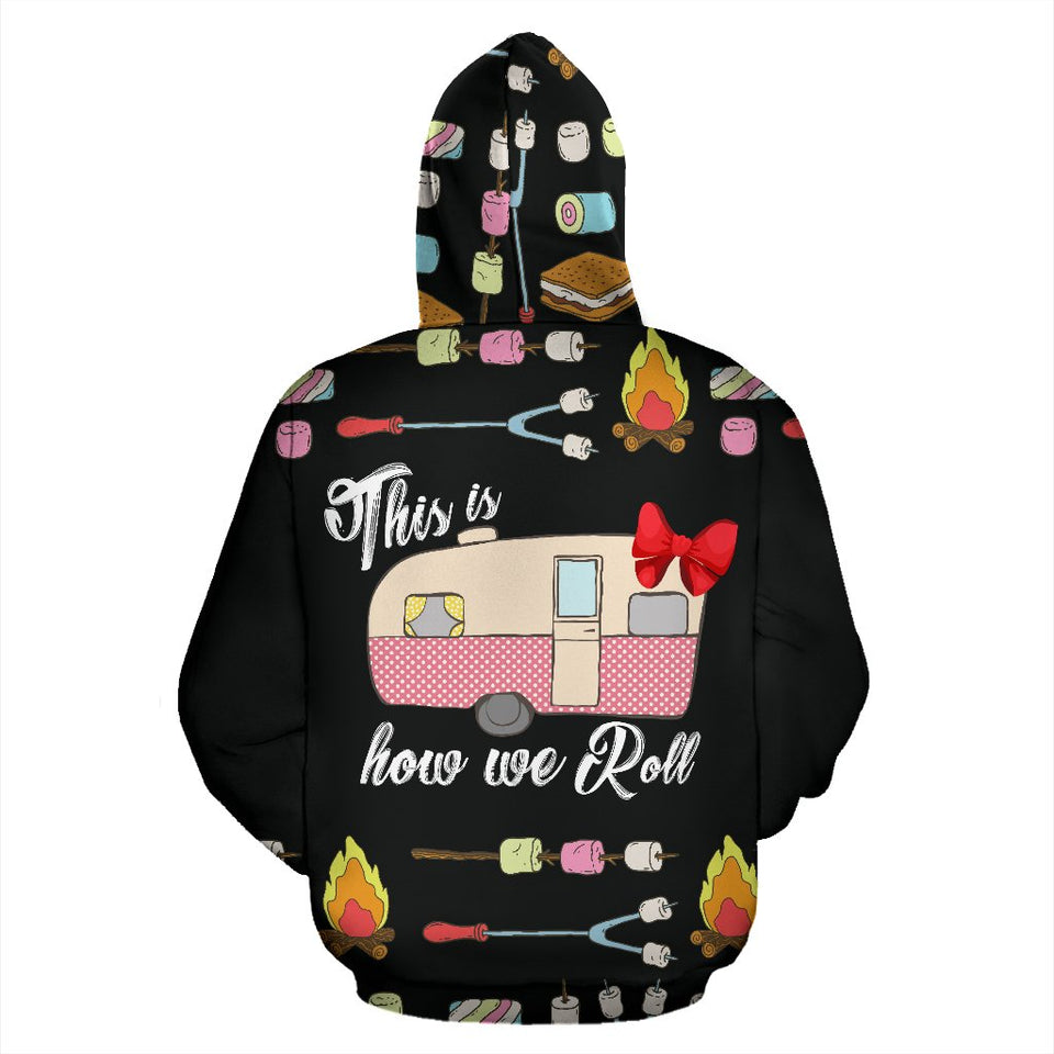 This is how we Roll Campfire Camping All Over Print Hoodie