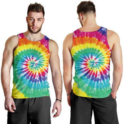 Tie Dye Men Tank Top