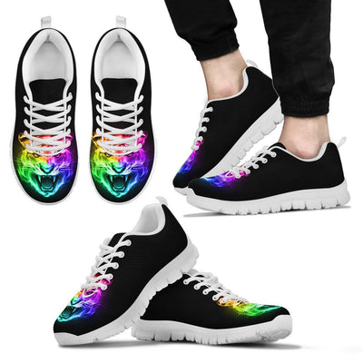 Tiger Head Colorful Men Sneakers