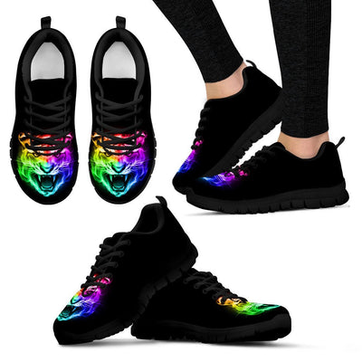 Tiger Head Colorful Women Sneakers