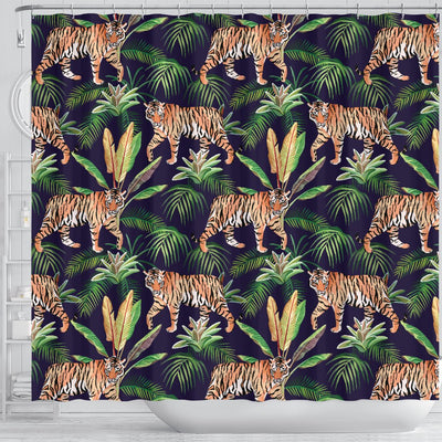 Tiger Jungle Shower Curtain
