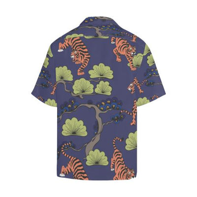 Tiger Pattern Japan Style Men Hawaiian Shirt