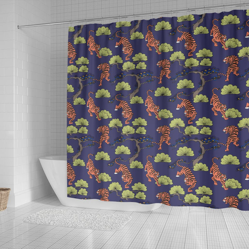 Tiger Pattern Japan Style Shower Curtain