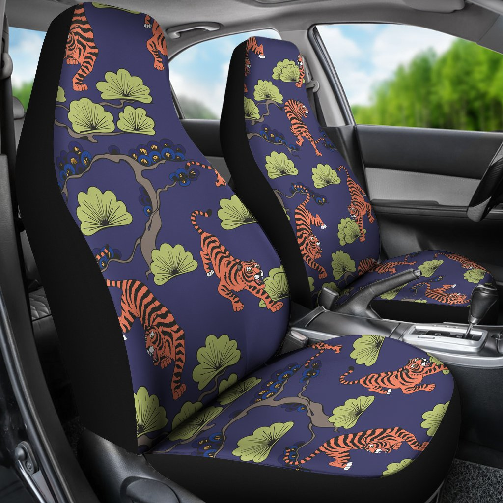 Tiger Pattern Japan Style Universal Fit Car Seat Covers ...