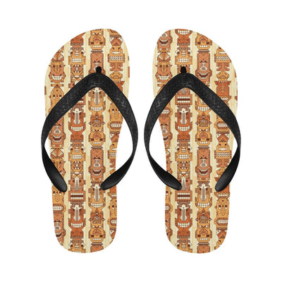 Tiki Orange Vertical Pattern Flip Flops-JorJune