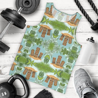 Tiki Wood Island Men Tank Top