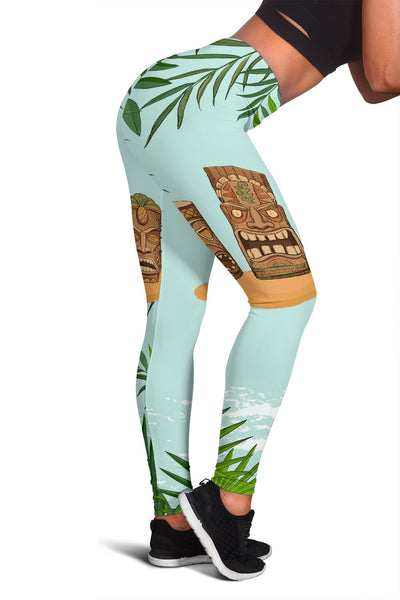 Tiki Wood Island Women Leggings