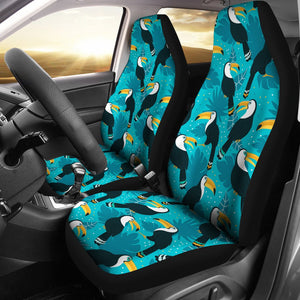 Toucan Parrot Pattern Print Universal Fit Car Seat Covers