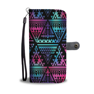 Tribal aztec Dark Multicolor Wallet Phone case