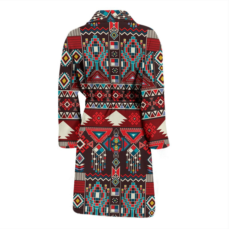 Tribal Aztec Indians Native American Men Bath Robe