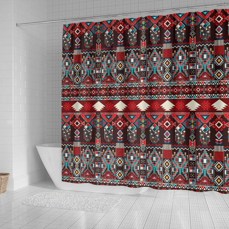Tribal Aztec Indians Native American Shower Curtain