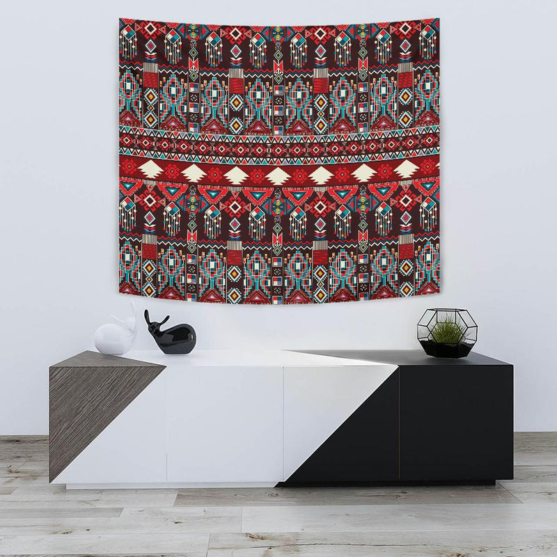 Tribal Aztec Indians native american Tapestry