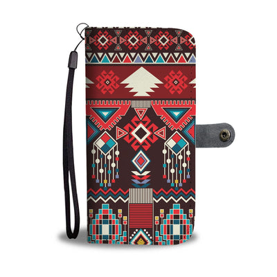 Tribal Aztec Indians native american Wallet Phone case