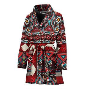 Tribal Aztec Indians native american Women Bath Robe