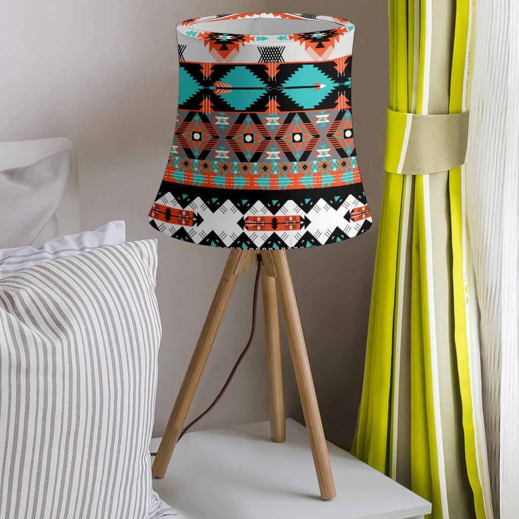 Tribal Aztec Indians pattern Drum Lamp Shade-JORJUNE.COM