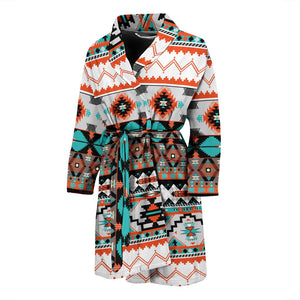 Tribal Aztec Indians Pattern Men Bath Robe