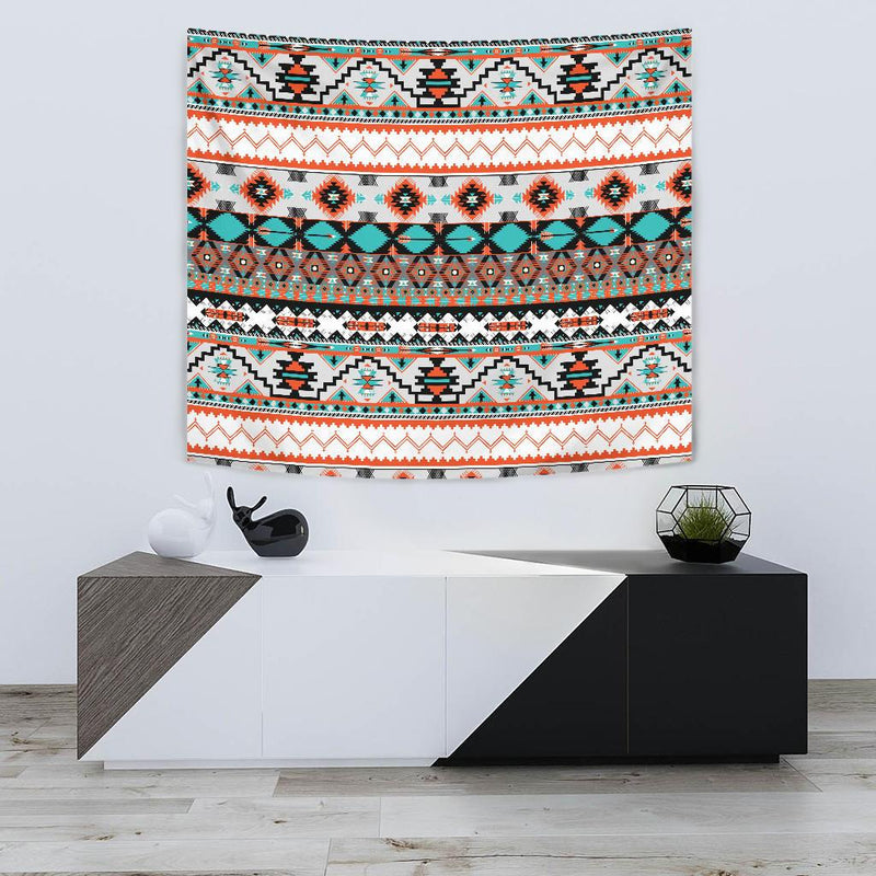 Tribal Aztec Indians pattern Tapestry