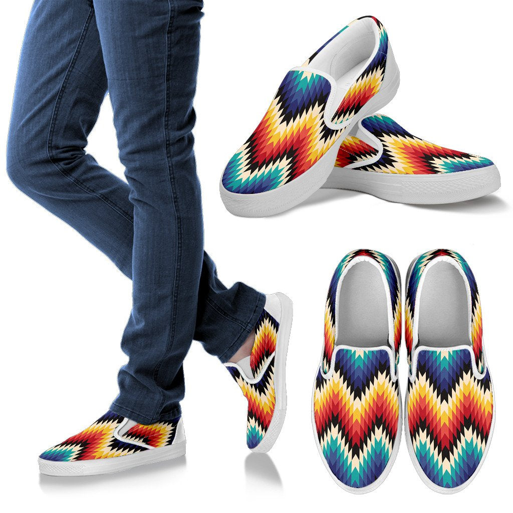 Tribal Aztec Men Slip On Shoes