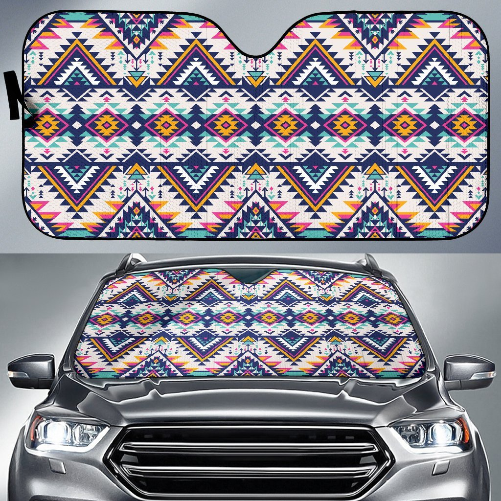 Tribal Aztec Native American Car Sun Shade-JorJune