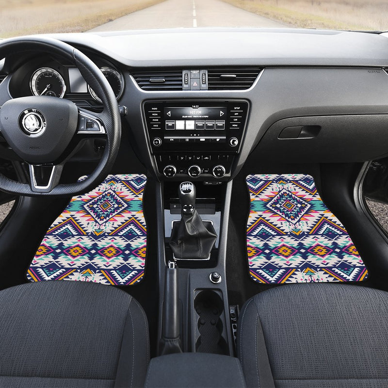 Tribal Aztec native american Front and Back Car Floor Mats