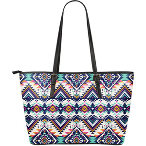 993bf070531ba Tribal Aztec native american Large Leather Tote Bag