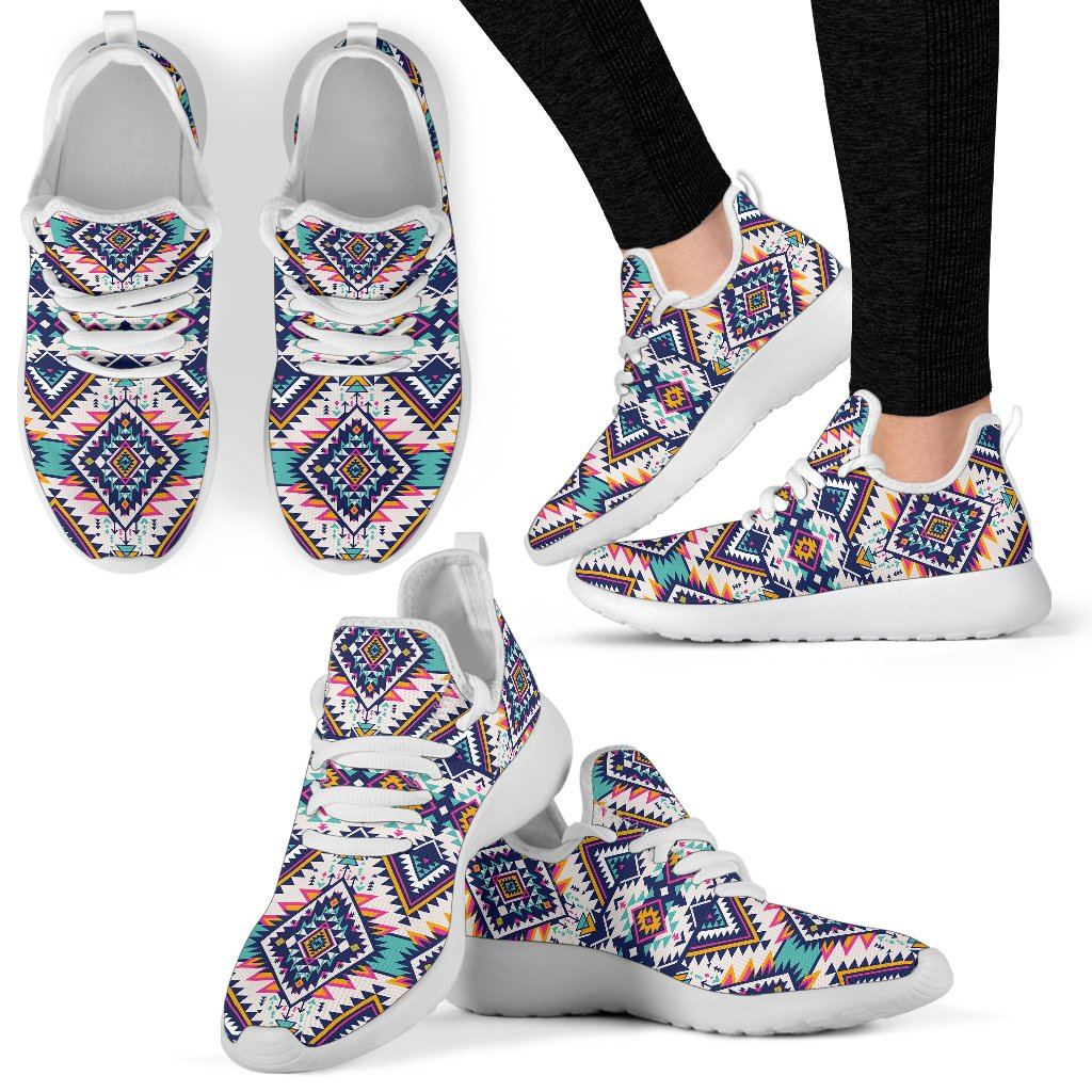 Tribal Aztec native american Mesh Knit Sneakers Shoes