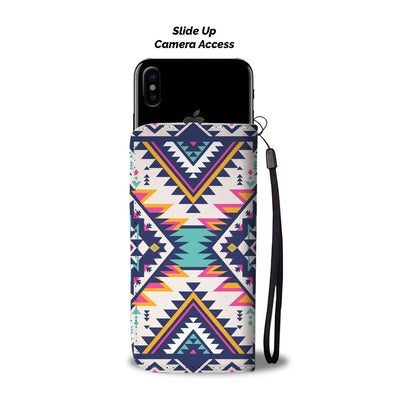 Tribal Aztec native american Wallet Phone case