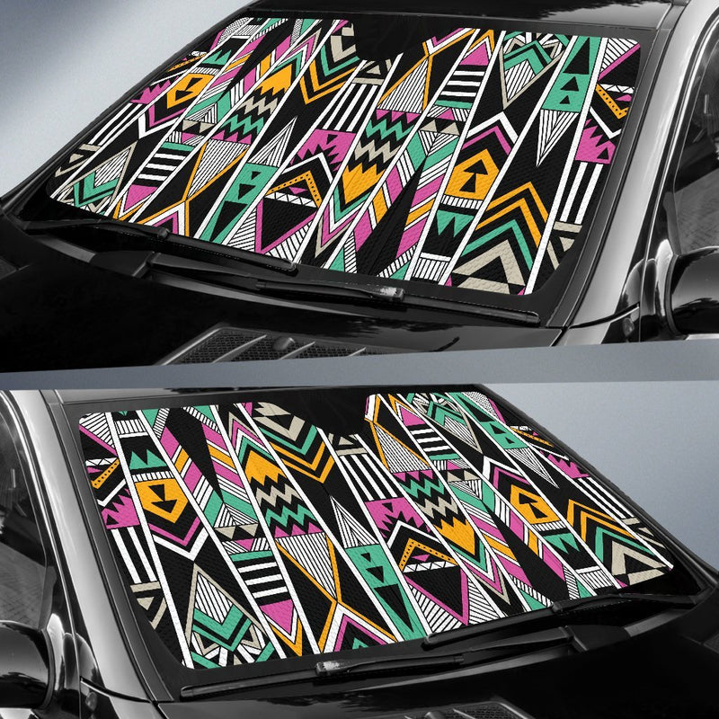 Tribal Aztec Triangle Car Sun Shade-JorJune