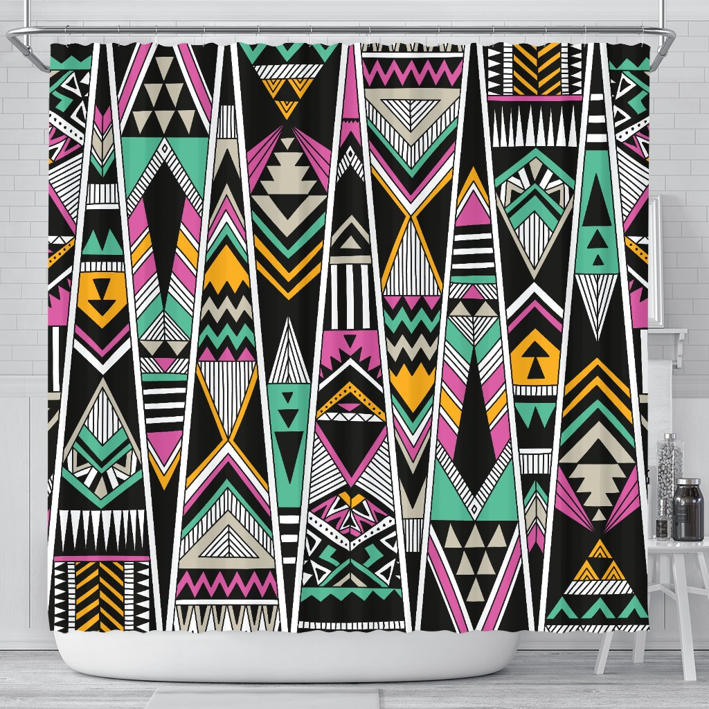 Tribal Aztec Triangle Shower Curtain