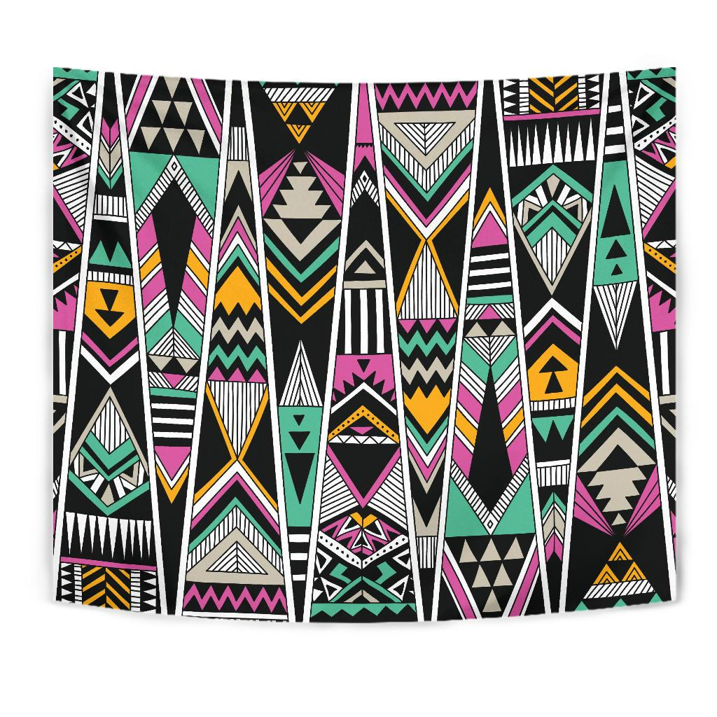 Tribal Aztec Triangle Tapestry