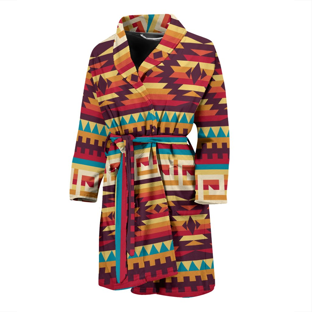 sneakers for cheap quality new arrivals Tribal Aztec Vintage Men Bathrobe