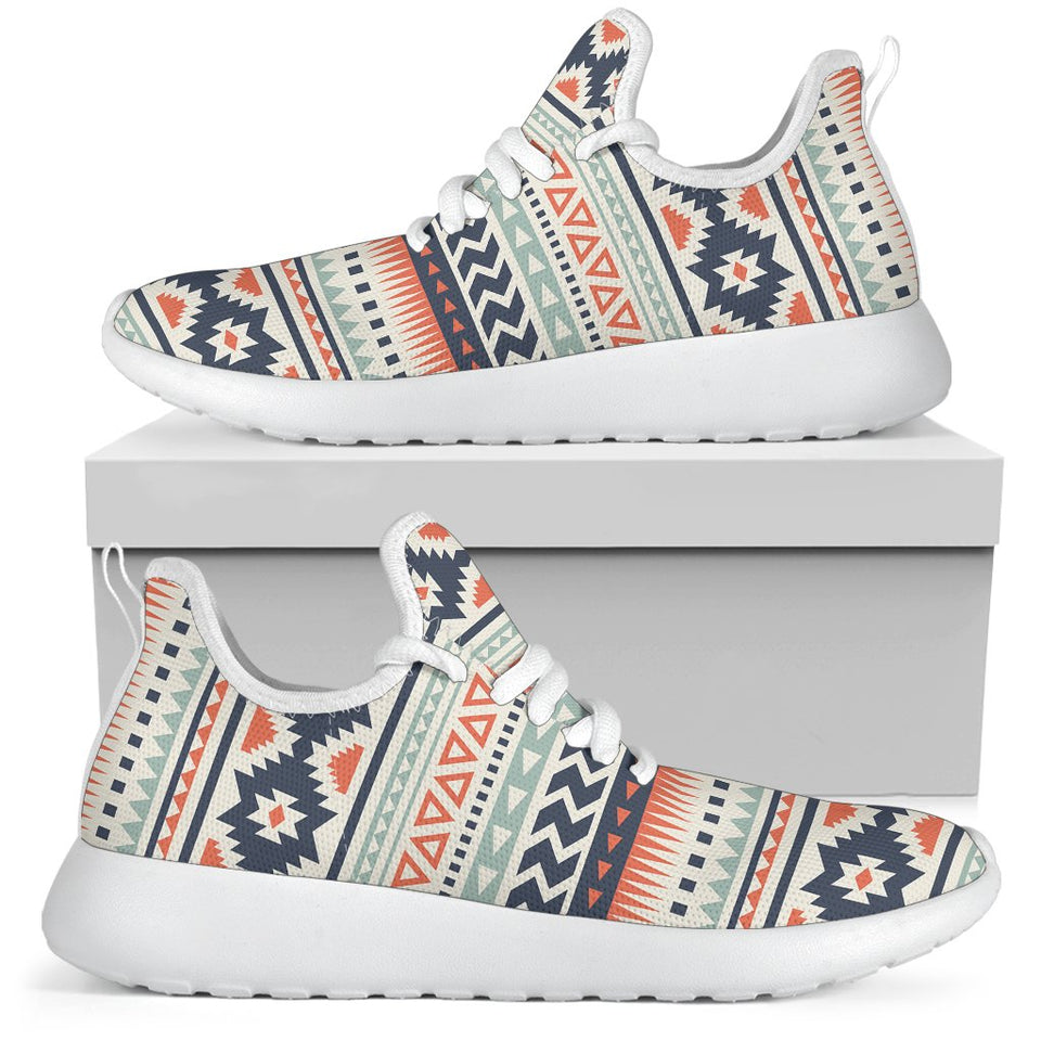 f8a534ac798 Tribal Aztec vintage pattern Mesh Knit Sneakers Shoes – JorJune